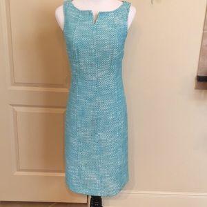 Talbots blue woven dress